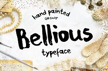 Bellious hand drawn typeface