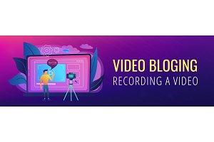 Vlog header or footer banner.