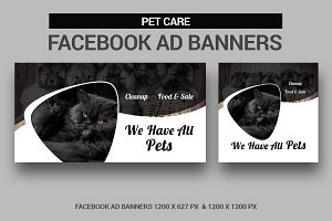Pet Care Facebook Ad Banners