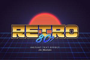 80s Retro Illustrator Styles Vol. 2