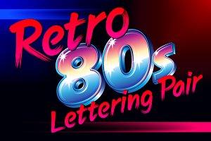 Retro 80s Alphabet Pair