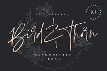 Bird & Thorn (20% Off) by  in Fonts