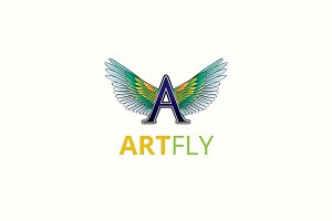 Art A Letter Fly Logo