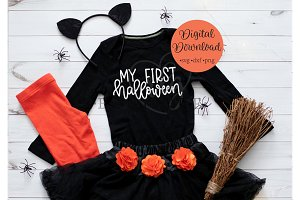 my first Halloween hand lettered SVG