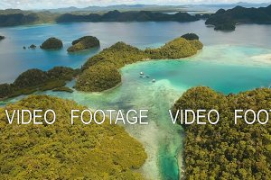 blue lagoon with islands
