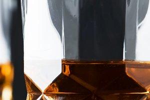 Bourbon in glass, american corn whis