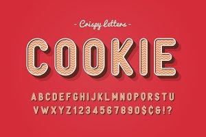 Vector sweet cookie font design
