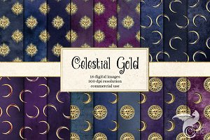 Celestial Gold Digital Paper