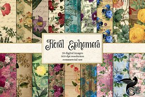 Floral Ephemera Digital Paper