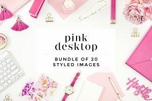 Pink Desktop Bundle (20 Images)