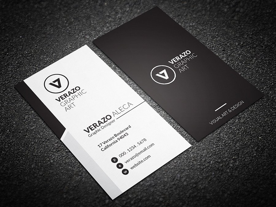 Simple & Clean Business Card ~ Business Card Templates ~ Creative Market