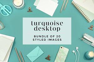 Turquoise Desktop Bundle (20 Images)