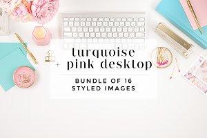 Turquoise + Pink Desktop Bundle