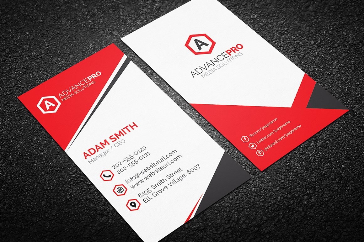 Modern Business Card Template Business Card Templates Creative - Business card designs templates