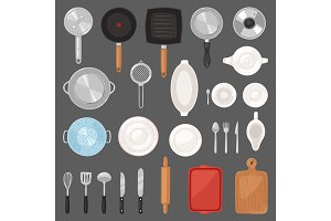 Kitchen utensil vector kitchenware