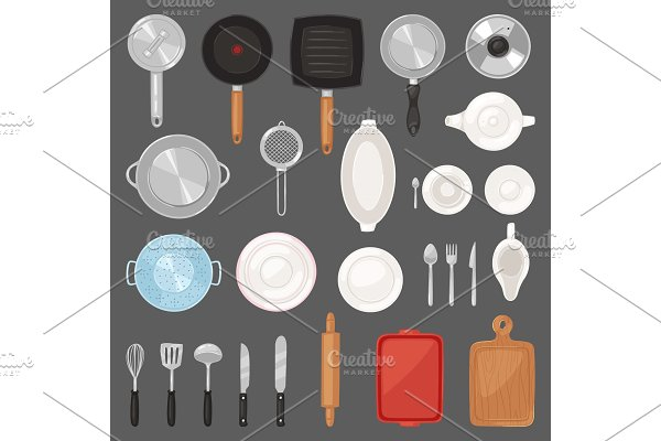 Kitchen utensil vector kitchenware