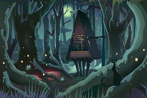 Fantasy Halloween Forest