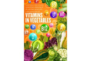 Vitamin food source in vegetables