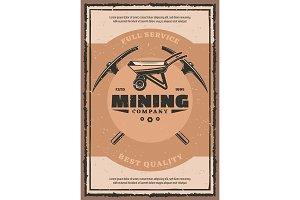 Mining company retro poster