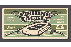 Fishing tackle shop, fisherman rods