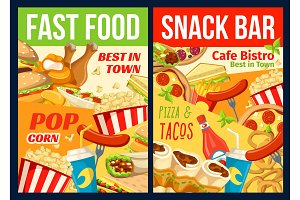Fast food restaurant meal and drinks