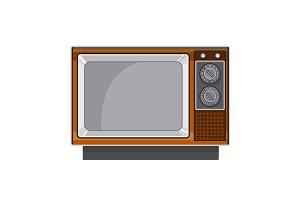 Vintage Television Set 1970s Retro S