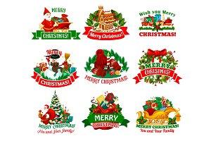 Christmas holidays festive icon