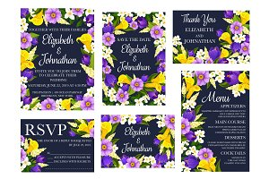 Wedding floral greetings
