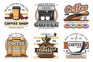 Coffee shop and drinks icons