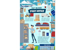 Postal service with mail delivery