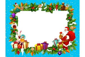 Holiday frame for Merry Christmas
