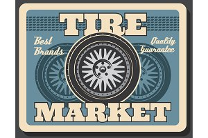 Tire fitting service spare car wheel