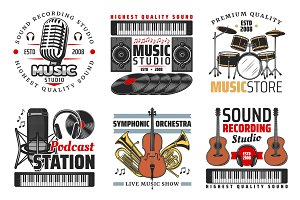 Sound record studio, music, radio
