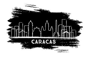 Caracas Venezuela City Skyline