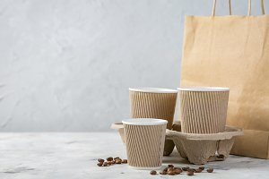 Food and drink craft packaging set