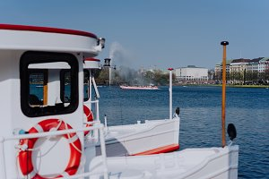 Alster Lake, with traditional