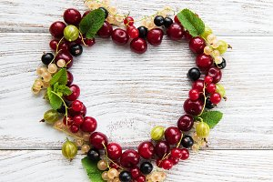 heart made from berries