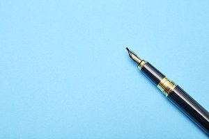 Gold plated fountain pen