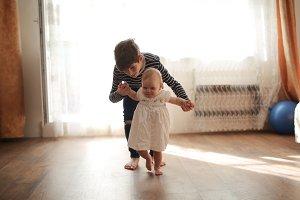 elder brother cares little sister