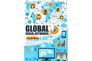 Global social network and internet