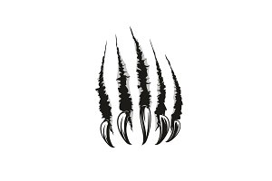 Wild animal claw vector scratches
