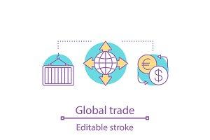Global trade concept icon