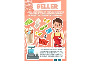 Seller woman profession in store