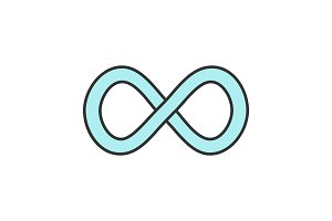 Infinity sign color icon