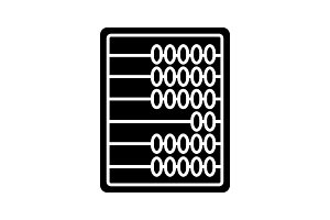 Abacus glyph icon