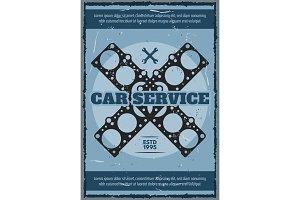 Engine gasket. Car service station