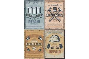 Repair work tools and renovation