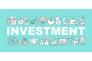 Investment word concepts banner