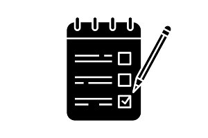To do list glyph icon