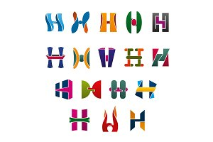 Letters H business identity